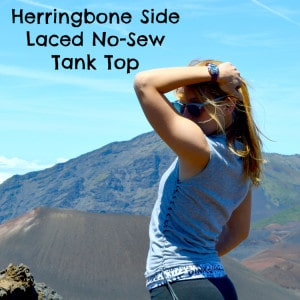 Herringbone Side Laced Tank Top T-Shirt Reconstruction