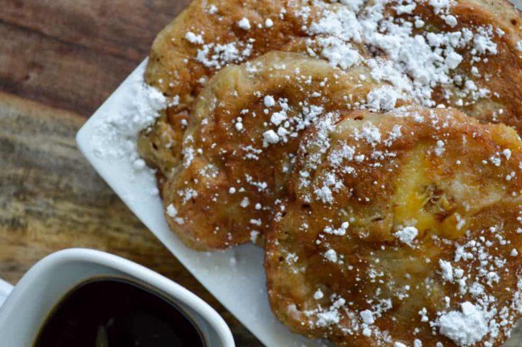 Banana Fritters with Cinnamon Powdered Sugar