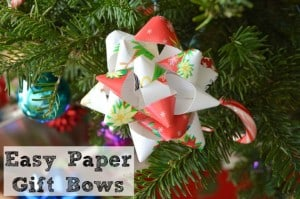 Last Minute Paper Gift Bow Hack