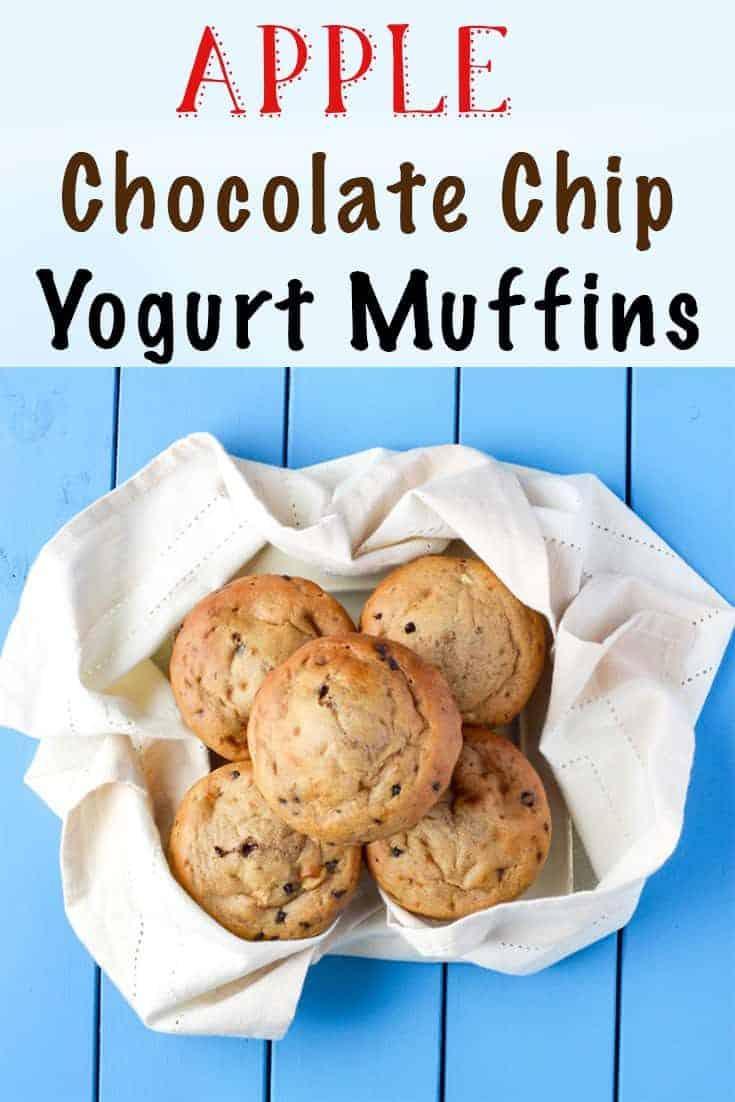 Cinnamon Apple Chocolate Chip Yogurt Muffins