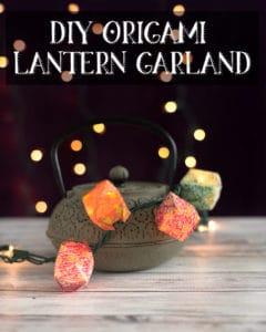 DIY Origami Lantern Garland