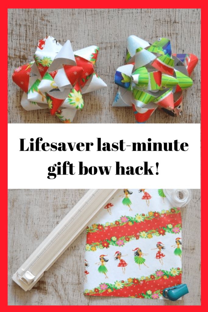 last minute gift bow hack