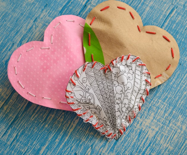 heart candy bags
