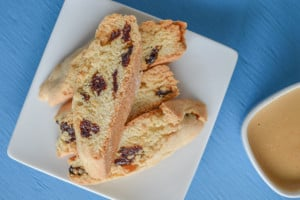 low-fat cherry biscotti