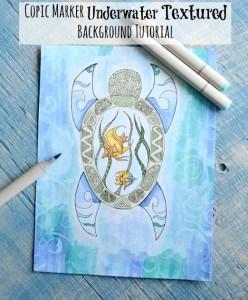 Copic Marker Underwater Textured Background Tutorial