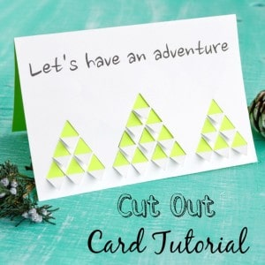 Cut out Mountains Card Tutorial with Printable