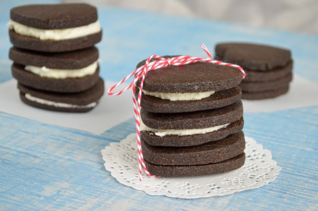 double chocolate homemade Oreos
