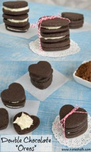 double chocolate sandwich cookies - homemade oreos recipe