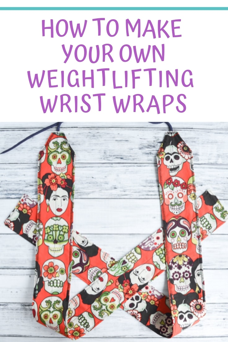 How to Make your own weightlifting wrist wraps - with free pattern!