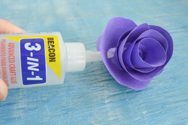 glue at the base