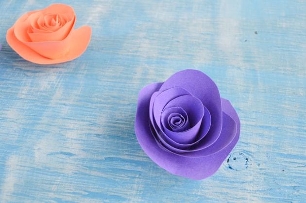 glued flowers