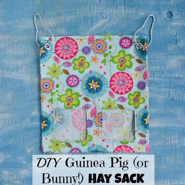 DIY guinea pig or bunny hay sack