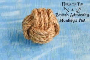 How to Tie a British Admiralty Pattern Monkey's Fist Knot - DIY Wedding Knot Idea