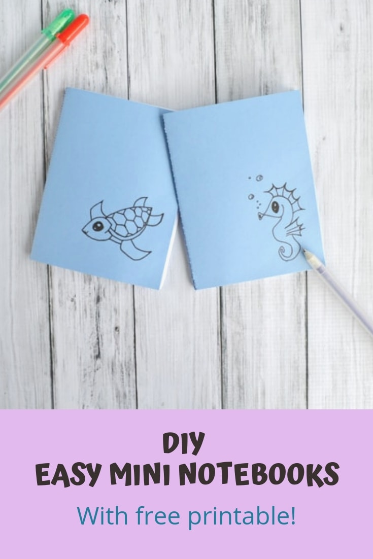 DIY easy mini notebooks with free printable!