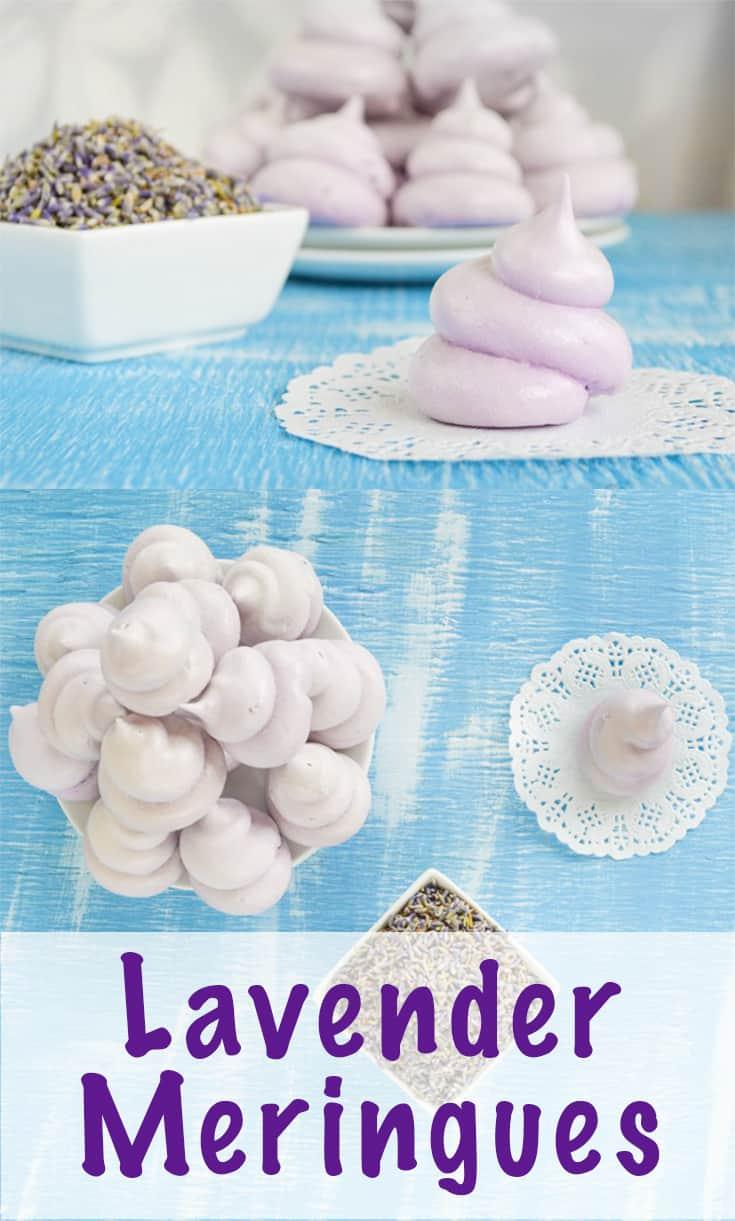 airy lavender meringues recipe