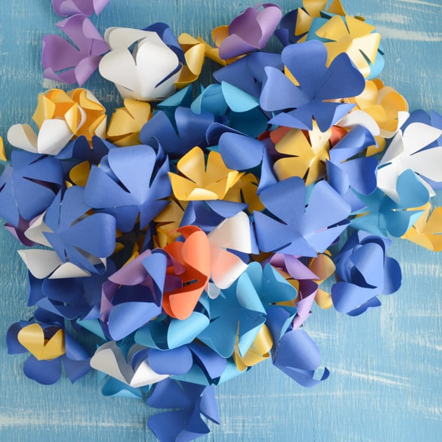 curled paper flowers