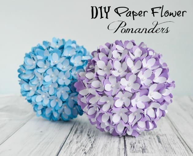 How To Make A Paper Flower Pomander Kissing Ball DIY Wedding