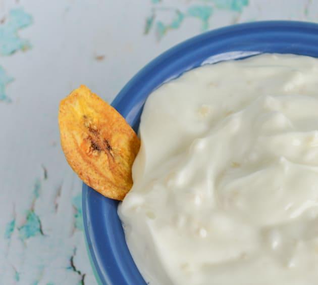 Greek yogurt garlic dipping sauce