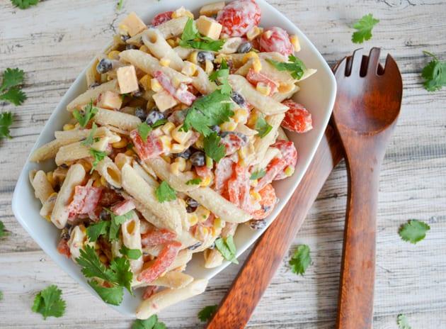 Chipotle Cheddar Southwestern Pasta Salad
