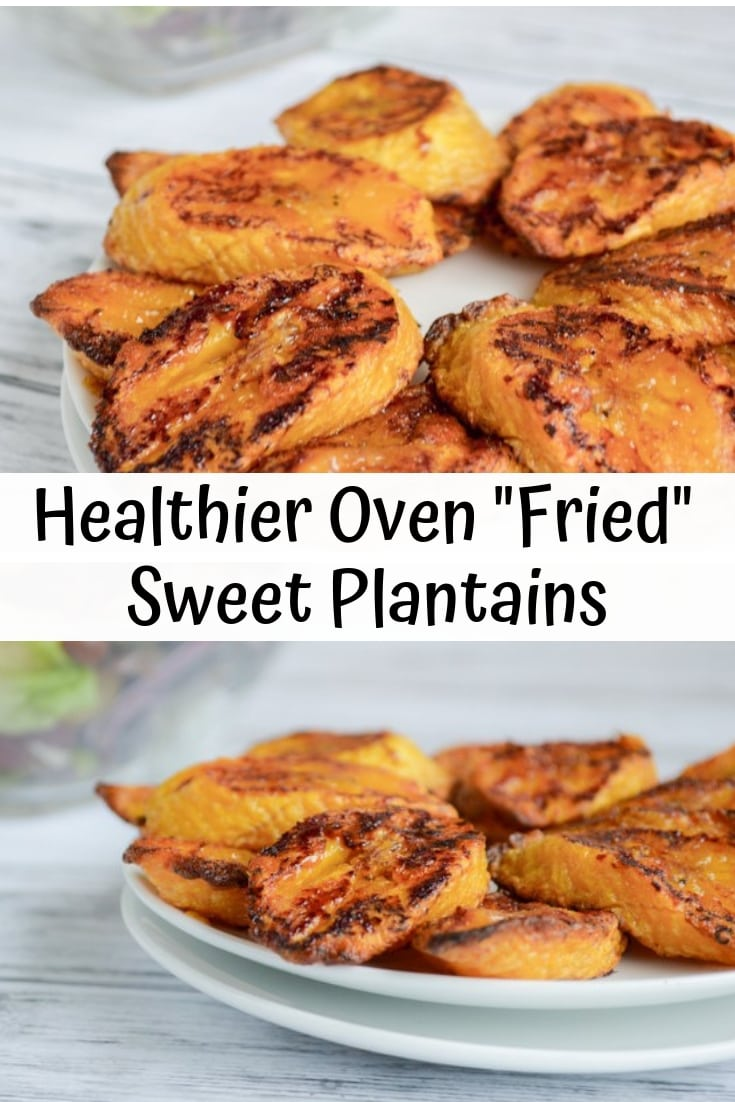 Healthier oven fried sweet plantains. Healthy maduros recipe for Paleo maduros. They are also a vegan recipe for plantains!