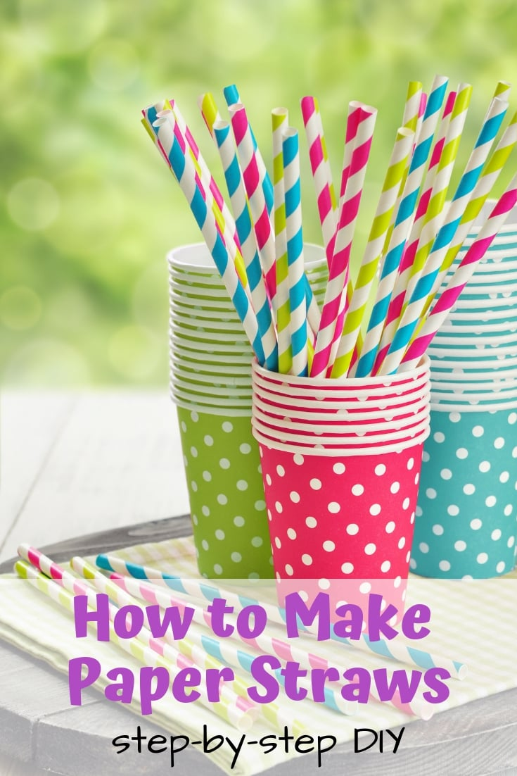 How to Make Paper Straws - step-by-step tutorial using scrapbook paper!