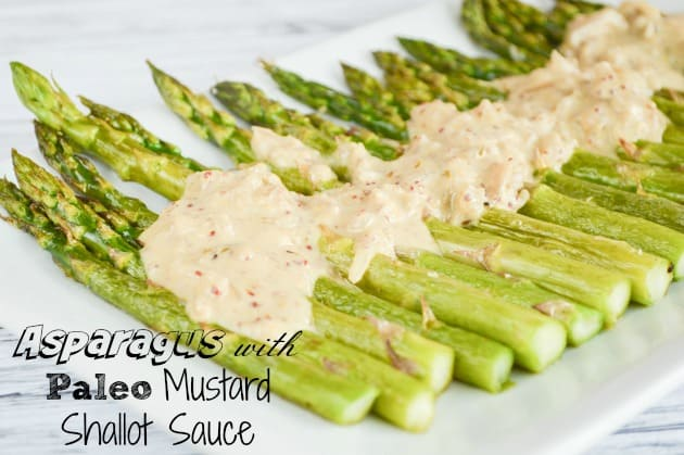 Oven Roasted Asparagus w Mustard Sauce