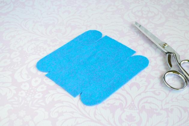 cut out fabric bin