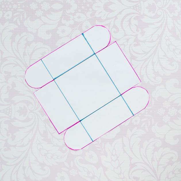 fabric bin pattern cutout