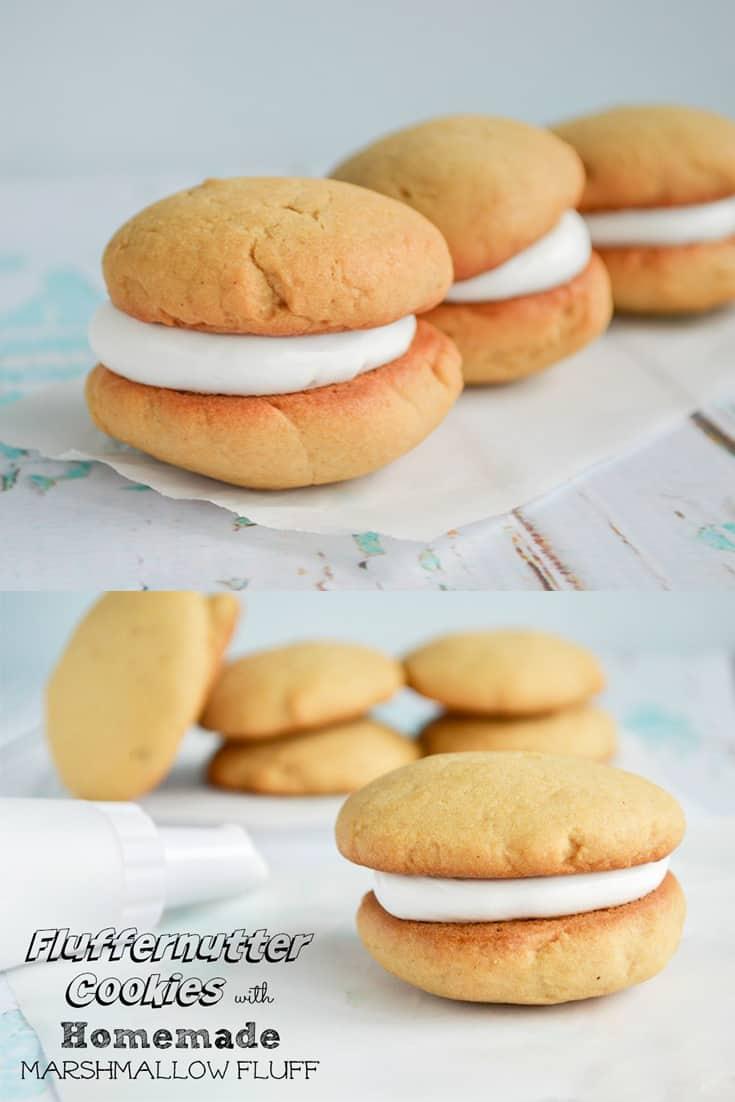 fluffernutter cookies with homemade fluff