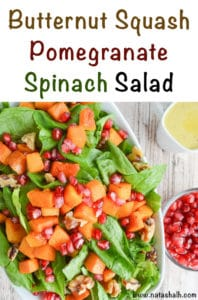 butternut squash pomegranate spinach salad