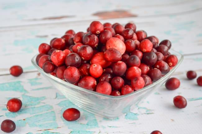 raw cranberries