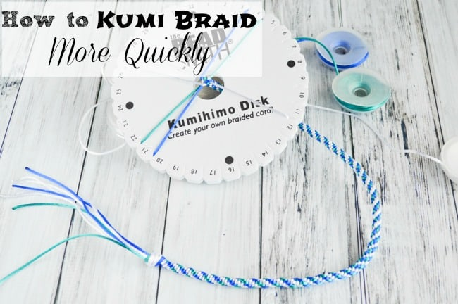 How to Kumi Braid More Quickly