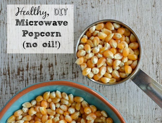How to Make your own Microwave Popcorn - no oil