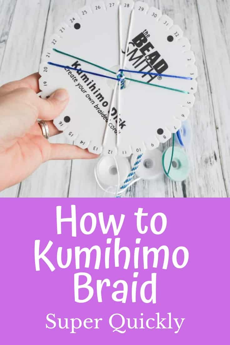 How to kumihimo braid super quickly
