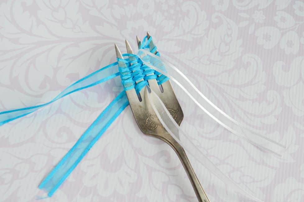 add second piece of ribbon