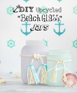 DIY Upcycled Frosted Sea Glass Jars