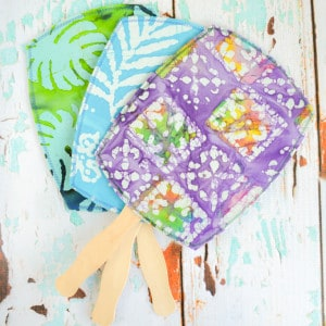 DIY Hand Fans - How to Make your Own Customized Hand Fans (with free printable pattern!)