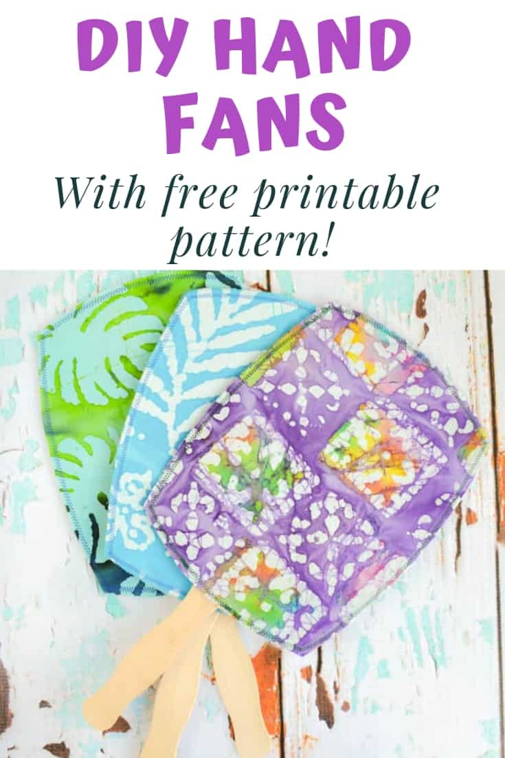 DIY Hand fans with free printable pattern