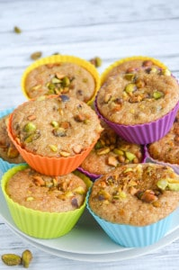 Gluten Free Pistachio Muffins - Gluten Free, Grain Free, Dairy Free Paleo Muffin Recipe