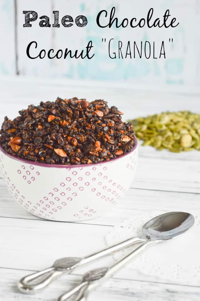 Paleo Chocolate Coconut Granola - Grain Free, Oat Free Granola Recipe