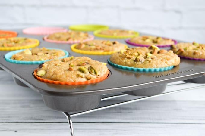 Paleo pistachio muffins