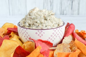 Greek Yogurt Caramelized Onion Bacon Dip (No Mayo!)