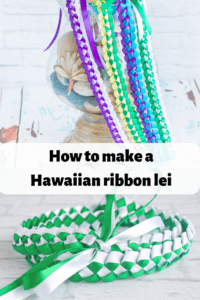 How to make a Hawaiian braided ribbon lei