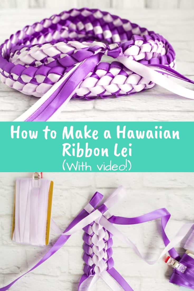 How to make a Hawaiian ribbon lei - with video tutorial!