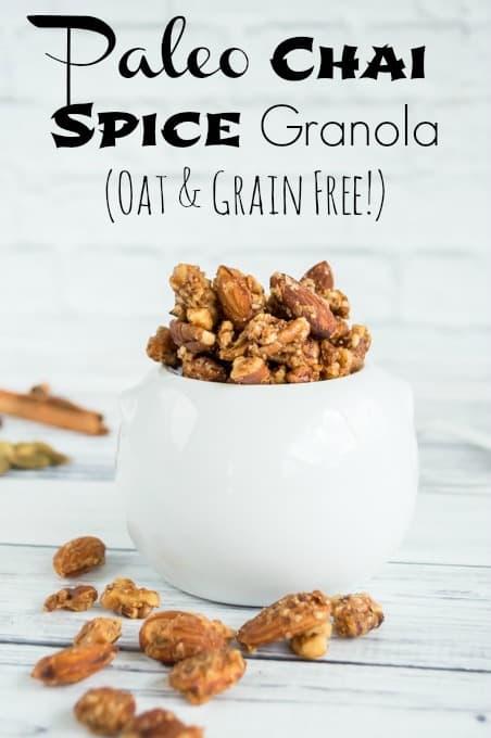 Paleo Chai Spice Granola Recipe (oat and grain free!)