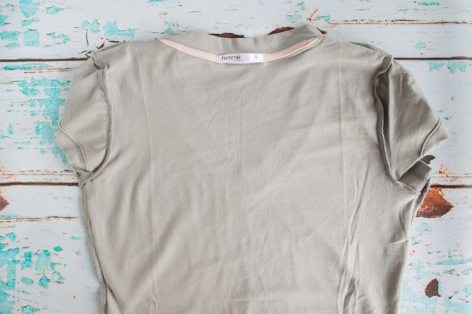 turn shirt inside out