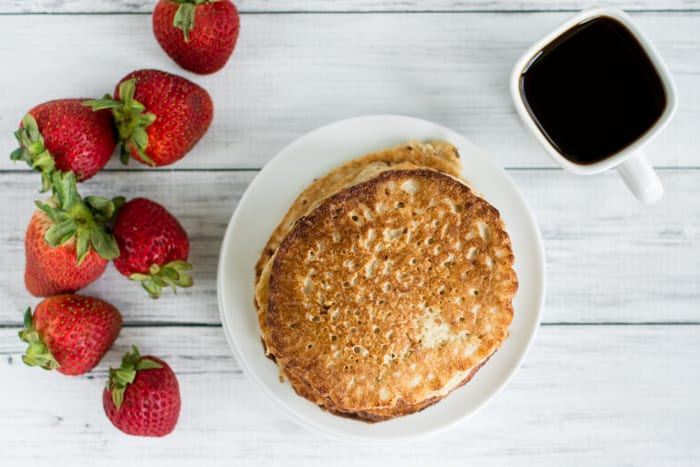 Oatmeal Cottage Cheese Protein Pancakes