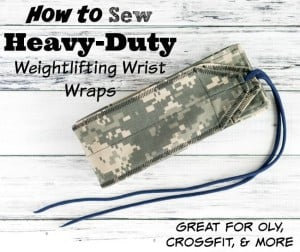 How to Sew Heavy Duty Weightlifting Wrist Wraps from Canvas, Cotton Duck, etc.