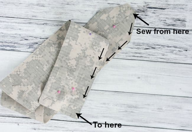 where to sew wrist wrap