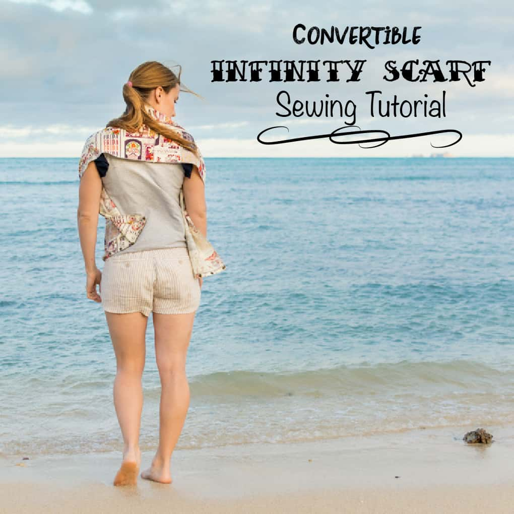 Convertible Infinity Scarf Sewing Tutorial